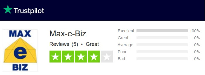 TrustPilot Reviews for Max-e-Biz